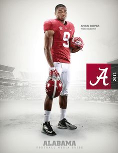2014 Alabama Football Media Guide Covers by Matt Lange, via Behance