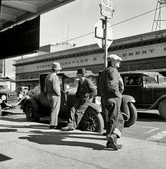 "Men on Skid Row, by Dorothea Lange. 1937. """