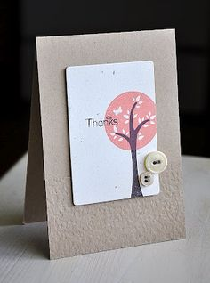 Trendy Tree Tops Thanks Card by Maile Belles for Papertrey Ink (April 2012)