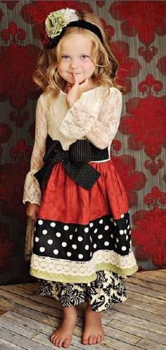 Persnickety ~ Berry Holly Holiday Dress