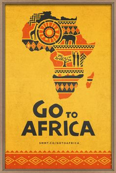 "Go to Africa by Evan Travelstead, via Behance (Patrick Downing movie poster design elements"" Africa Art, Out Of Africa, Poster Design, Graphic Design, Travel Couple Quotes, Poster S, Poster City, Thinking Day, Africa Travel"