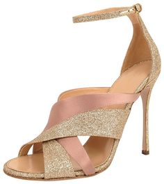 Sergio Rossi Metallic and Satin Sandal on shopstyle.com.au