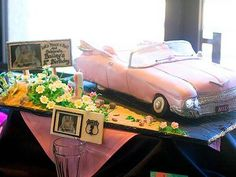 Pink Cadillac cake was designed by Jill Phillips
