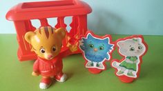 Daniel Tiger Cake Topper PBS Kids includes Trolley Katerina Kitty O the Owl Tiger's Neighborhood Mr. Rogers cupcake topper pick birthday by AisforApronStrings on Etsy https://www.etsy.com/listing/239894062/daniel-tiger-cake-topper-pbs-kids
