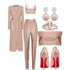 Untitled #275 by scannedbyaaron on Polyvore featuring Balmain, Haider Ackermann, Jonathan Simkhai, Christian Louboutin, Givenchy, Jankuo and Bliss Diamond