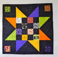 This is actually a quilt, not a block.  It's about 4 foot square.  By the confused quilter