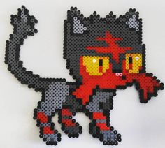 Litten Pokemon hama beads by eltallerdekurisu