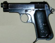 Beretta M34 pistol.Loading that magazine is a pain! Get your Magazine speedloader today! http://www.amazon.com/shops/raeind
