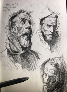 """The Spanish Inquisition"" - graphite sketch by Tomek Larek"
