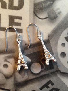 Sterling 925 Earwires Eifel Tower Earrings by ArtisticSparkle