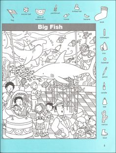 Hidden Pictures Classics: Flying Fish Details - Rainbow Resource Center, Inc. Hidden Object Puzzles, Hidden Picture Puzzles, Highlights Hidden Pictures, Hidden Pictures Printables, Find The Hidden Objects, Hello Teacher, Rainbow Resource, Activity Sheets, Colouring Pages