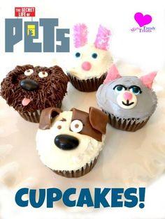 Secret Life of Pets Cupcakes Cat Cupcakes, Animal Cupcakes, Cupcake Cookies, Animal Birthday, 2nd Birthday, Birthday Ideas, Secret Life Of Pets, Puppy Party, Animal Party