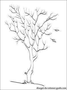 Disegno di albero di autunno da colorare | Disegni da colorare gratis
