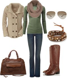 """""""Casual Fall Winter Outfit"""" by natihasi on Polyvore KAL - all but the sunglasses for me"""