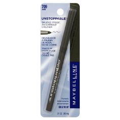 Maybelline Unstoppable Smudge-Proof Waterproof Eyeliner. I use the Expresso shade. This is the only eyeliner I can find that won't smudge on my constant watering eyes.
