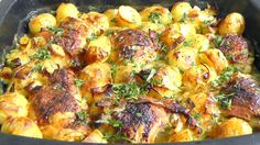 Amazing Honey CHICKEN & ROASTED POTATOES in tarragon sauce How to Cook recipe #video #pic #photo #image