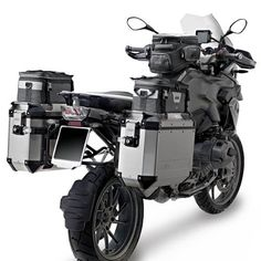 Givi OBK48APACK2 Outback Silver Cases 48 Liter Left + Right Side
