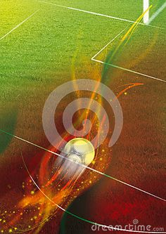 Illustration about Illustration of a football field with a ball speeding to the soccer goal. Illustration of green, shoes, grass - 29210333 Amazing Photos, Cool Photos, Football Field, Goal, Soccer, Dreams, Stock Photos, Illustration, Green