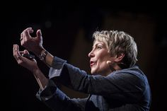 Barb Stuckey on stage at TED2013, Photo: James Duncan Davidson