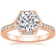 14K Rose Gold Dahlia Diamond Ring from Brilliant Earth