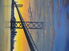 Bay Bridge at Sunset Artist: Edgar Monroe