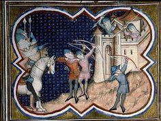 Paris - Bibl. Sainte-Geneviève - ms. 0777. Siège de Locres ou de Tarente. Auteur: Livius. Titre: Décades. Datation: vers 1370.