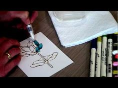 Elizabeth Craft Designs Peel Off stickers in combination with Tim Holtz Distress Markers