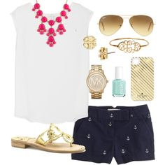 """Anchors"" by classically-preppy on Polyvore"