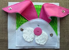 Button Nose Felt QUIET BOOK .PDF Pattern by LindyJDesign on Etsy