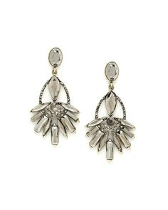 Metallic Facet Earrings - Classic Hollywood glamour