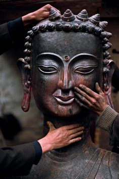 """The Buddha said, """"To straighten the world, you must do a much more difficult thing…. Straighten yourself first. You are your only Master."""" ..*"""