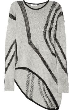 yes.please...Helmut Lang | Net-paneled loose-knit sweater | NET-A-PORTER.COM