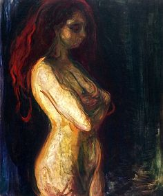 Nude in Profile towards the Right Edvard Munch - 1898