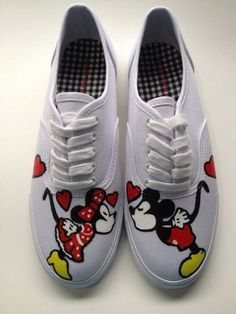 Trendy mickey mouse shoes