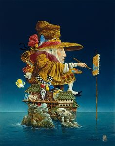 Artist´s Island. Original Paintings Steeped in Surrealism. By James C. Christensen.