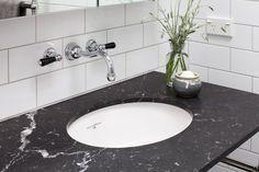 The English Tapware Company Black White Bathrooms, Classic Bathroom, Victorian Decor, Sink, English, Black And White, House Styles, Inspiration, Design
