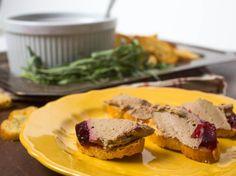 Chicken Liver Pâté With Bourbon and Cranberry Gelée