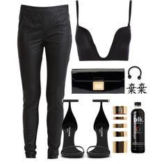A fashion look from July 2014 featuring Object Collectors Item leggings, Wonderbra bras and Yves Saint Laurent sandals. Browse and shop related looks.