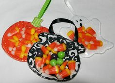 3 Halloween Party FavorsithMachine Embroidery by SewChaCha on Etsy, $10.00