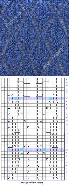 узор 159 косы с ажурным узором | каталог вязаных спицами узоров