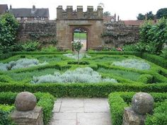 It was only later - during the Tudor era - that gardens became ornamental.  Those intricate knot gardens were meant to be admired from the windows of the house.  I'm not sure they were ever meant to be walked.