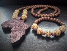Set of men wood necklace and bracelet by FashionbellaJewelry, $42.50