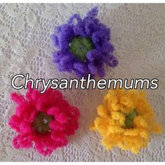 Shop for on Etsy, the place to express your creativity through the buying and selling of handmade and vintage goods. Crochet Scrubbies, Chrysanthemums, Pink Gifts, Purple Yellow, Crochet Flowers, Crochet Earrings, Gifts For Her, Dish, Cleaning