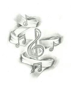 trendy music note tattoo on wrist clef tatoo Music Drawings, Pencil Art Drawings, Art Drawings Sketches, Easy Drawings, Tattoo Drawings, Tattoo Sketches, Music Tattoo Designs, Music Tattoos, Tatoos