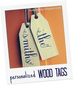 """That's My Letter: """"W"""" is for Wood Tags #3 (last name version), giant wood tags personalized"""