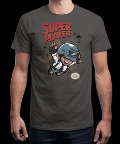 """""""Super Player"""" is today's £9/€11/$12 tee for 24 hours only on www.Qwertee.com Pin this for a chance to win a FREE TEE this weekend. Follow us on pinterest.com/qwertee for a second! Thanks:)"""