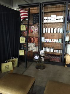 Our beautifully styled bookcase display at the #DenverFlea2015