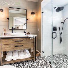 Bathroom Inspiration with matte black shower fixtures @spaziola2 #InteriorDesign #DecorativeHardware #HomeDecor #DIY #Remodel #mastershower #Architecture #showergoals #LuxuryHomes #HomeIdeas #HomeStyling #HomeRenovation #HomeDesign #HomeInspiration #DreamHome #ArchiLovers #BathroomDesign #BathroomRemodel #NewShower #ModernHome #NewConstruction