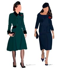 11/11/2018. Duquesas Kate Middleton & Meghan Markle. by Amelia Noyes.