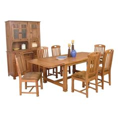 Sedona Rustic Oak Extension Table with 2 Leaves by Sunny Designs - Wolf Furniture - Kitchen Table Pennsylvania, Maryland